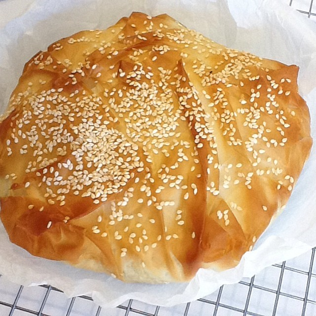 Spanakopita - spinach and cheese pie