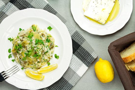 Πρασόρυζο - leeks with rice