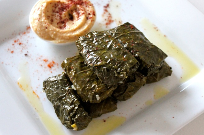 Delicious rice balls wrapped in vine leaves
