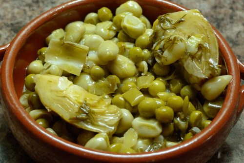 One of my favourite Lent dishes, artichokes with broad beans