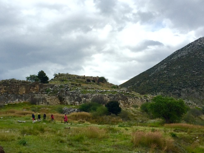 The ruined city of Mycenae