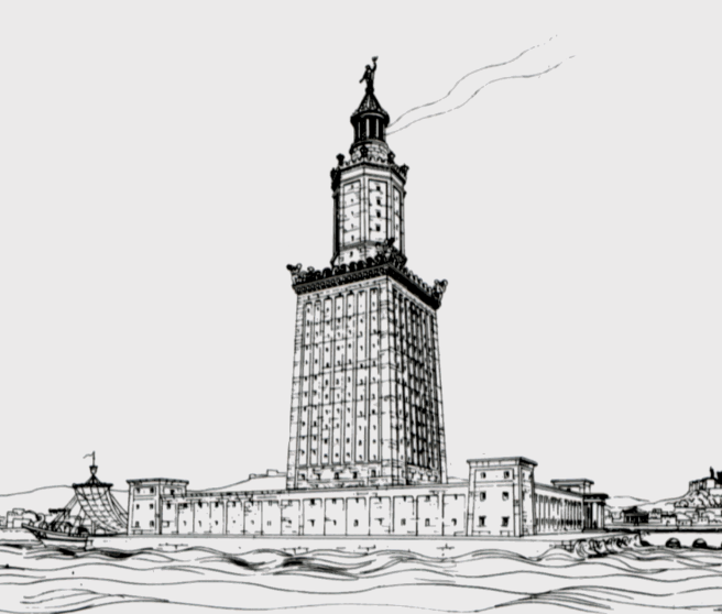 Drawing by archaeologist Hermann Thiersch (1909)