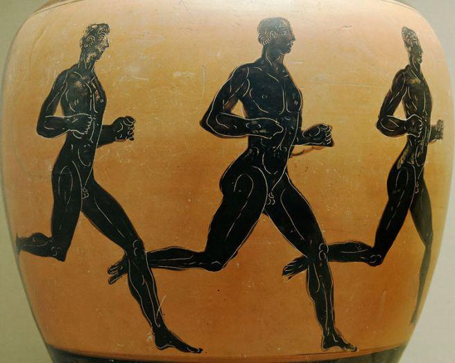 Three runners. Wikimedia commons.