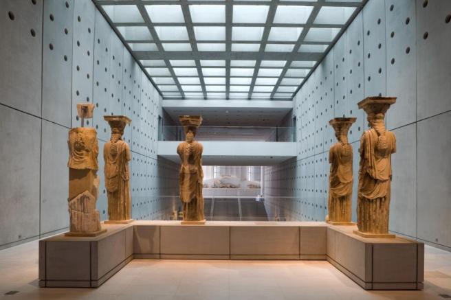 The Caryatids in the Acropolis Museum (NAM, AKTOR, 29JUN2009)