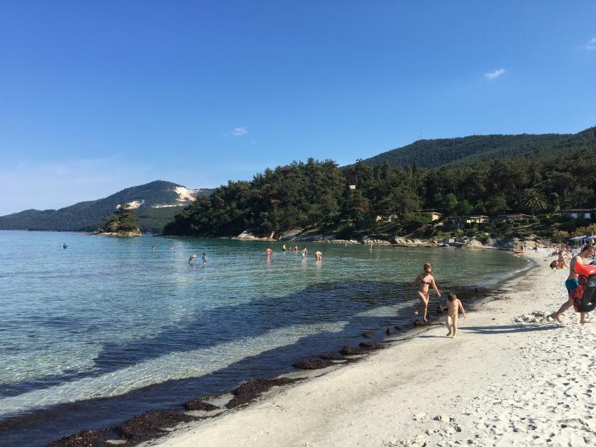A beach in Thasos, Greece